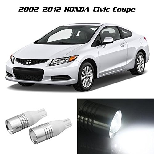 Partsam White Backup Reverse Light 921 912 Projector Lens Cree Chip For Honda Civic Coupe 2002 2003 2004 2005 2006 2007 2008 2009 2010 2011 - Coupe Tt Audi 2001