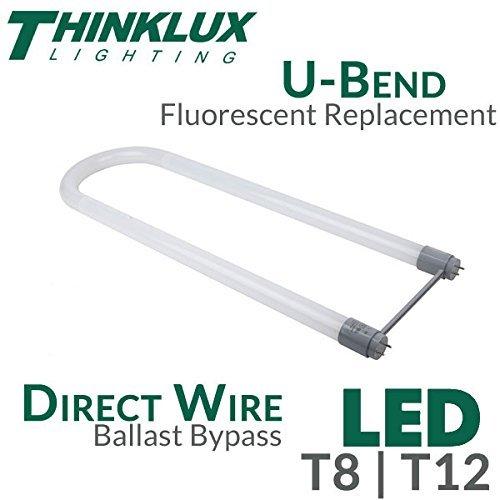 U-lite 2 Light (Thinklux LED T8 U-Bent Tube Light 2x2, 2 Foot, 4000K, Ballast Bypass for T8 or T12 - 20 Pack)