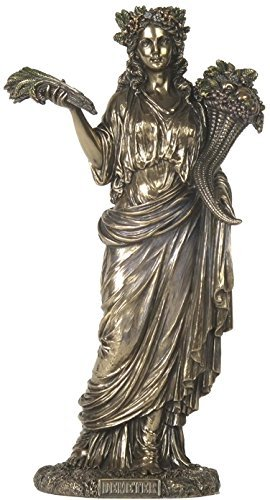12.38 Inch Demeter - Greek Goddess of Harvest Cold Cast Bronze Statue -  US, SS-US-WU75859A4