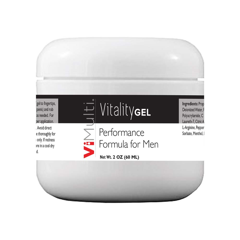 ViMulti Male Enlargement and Duration Support Cream Now 2 Ounces with L-Arginine Which is Proven to Increase Blood Flow