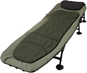 Deck chair Zero Gravity Chair Folding Bed Office Single Recliner, Adjustable Backrest Iron Tube Bracket Portable Outdoor Camping Bed Army Green Sun Lounger