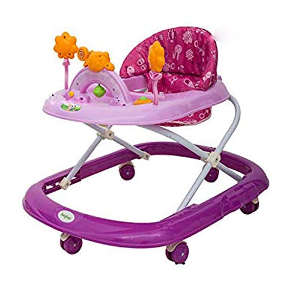 Baybee Bizzy Bee Baby Walker Round Kids Walker for Babies Cycle with Adjustable Height and Musical Toy Bar Rattles and