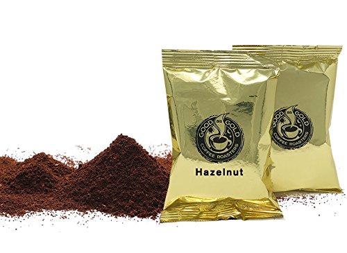 Hazelnut Premeasured Ground Coffee Packets, Good As Gold Coffee, (24/2oz Pre-Measured Coffee Packs) ()