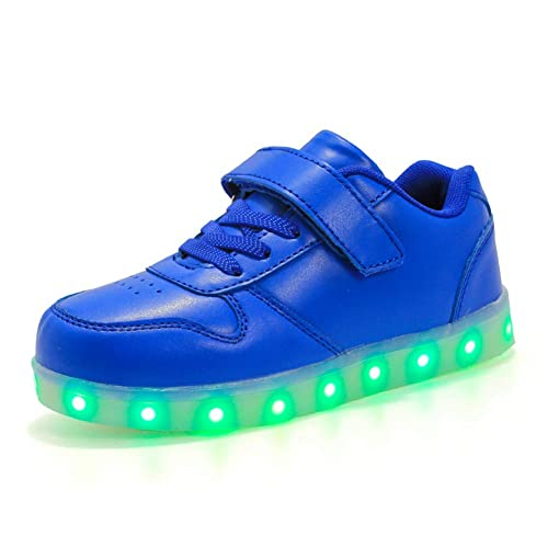 Moquite Regalo de cumpleaños Zapatos LED Niños Niñas 7 Color USB Carga LED Zapatillas Luces Luminosos Zapatillas LED Calzado Deportivo: Amazon.es: Zapatos y ...