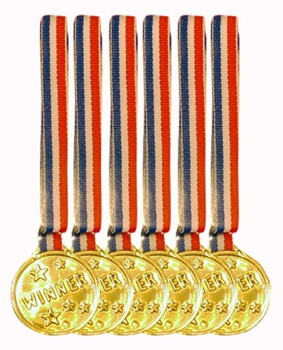 Party/Game/Sport Winner Medals - Set Of 12 Play Medals by Partyrama 86101-12UNQ-tys-C
