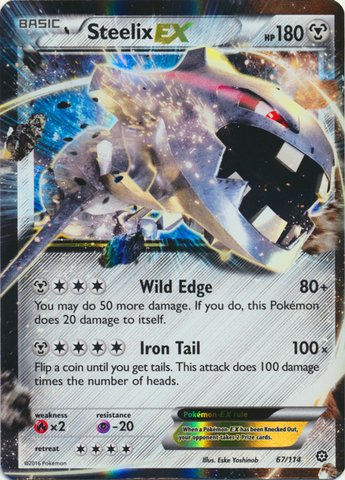 Pokemon - Steelix-EX (67/114) - XY Steam Siege - Holo