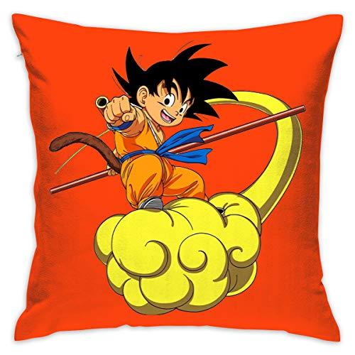 Nima920shabi Pillowcase Pillow Covers 20x20 Dragon Ball Z Goku Cushion Covers 20