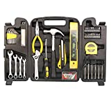 Tool Kit. Best Portable Big Basic Starter Professional Household DIY Hand Mixed Repair Set W/Plastic Storage Case For Home, Garage, Office For Men&Women. Includes Screwdriver, Wrench, Pliers, Etc.