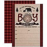 Lumberjack Baby Shower Invitations, Boy Baby Shower...