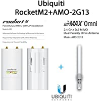 Ubiquiti RocketM2 2.4GHz Outdoor + AMO-2G13 13dBi AirMax Antenna Kit