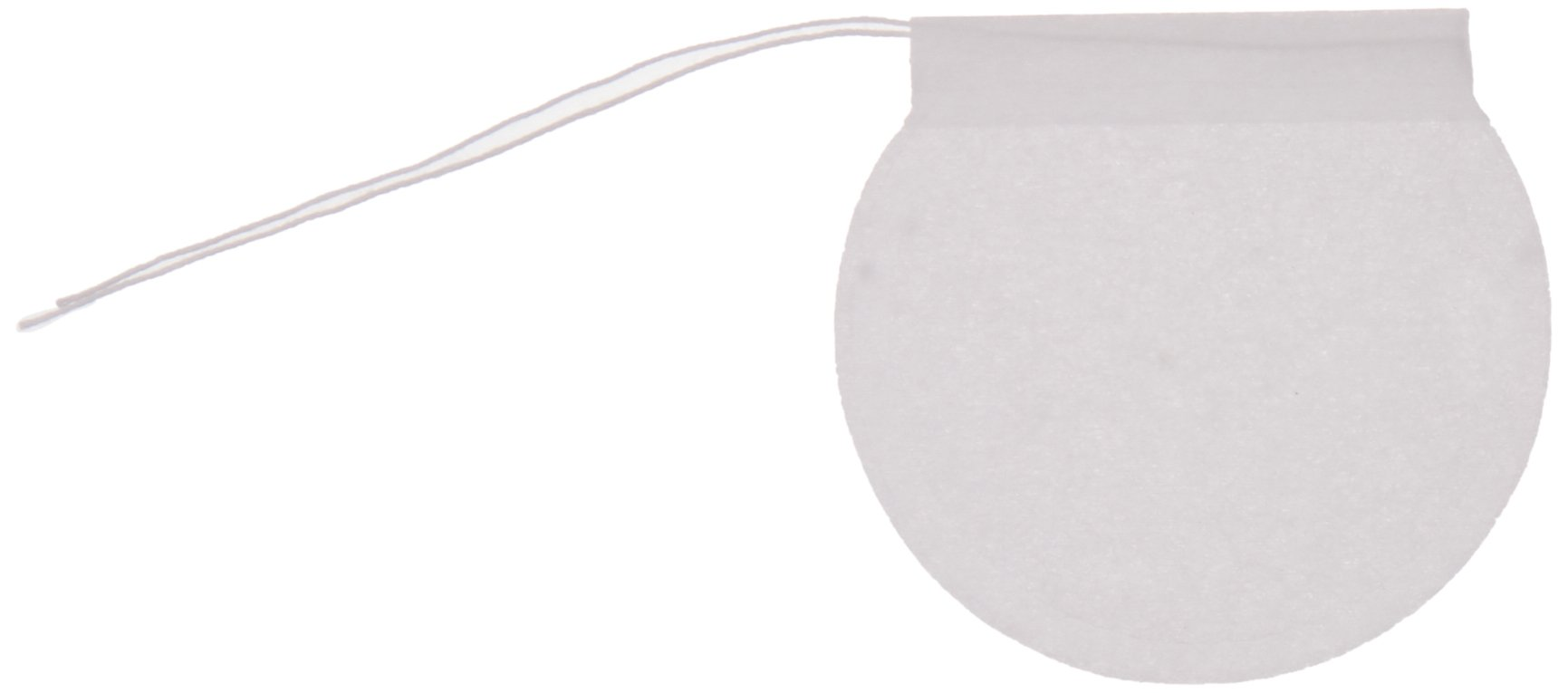 Special Tea 200 Count Round Empty Tea Bags with Draw String Closure, 2.25'' x 2.5'', White