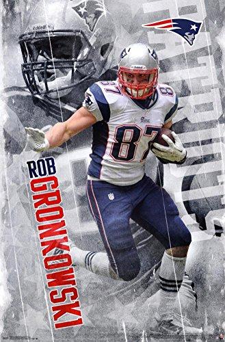 "Trends International RP13664 Wall Poster New England Patriots Rob Gronkowski,,22.375"" X 34"""