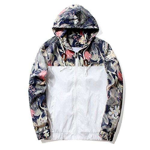Floral Bomber Jacket Men Hip Hop Slim Fit Flowers Pilot Bomber Jacket Coat Men's Hooded Jackets 4Xl Navy Xxl