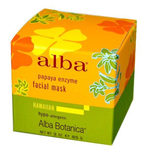 Alba Botanica Hawaiian Facial Mask, Pore-fecting Papaya Enzyme 3 oz (Pack of 7)