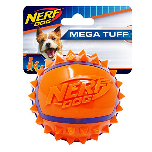 Nerf Dog Two-Tone TPR Spike Ball, Small ()