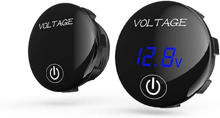 Sidougeri Car Motorcycle DC 5V-48V LED Panel Digital Voltage Meter Battery Capacity Display Voltmeter with on OFF Switch