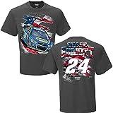 NASCAR Men's-USA-Driver Graphic T-Shirt-Chase Elliott #24-NAPA-Charcoal-Large