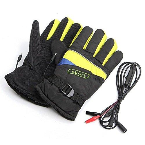 CALAP-STORE - Waterproof Motorcycle Electric Heating Gloves Motorbike Bicycle Winter Warmer Gloves Outdoor Ski Li-ion Battery Gloves
