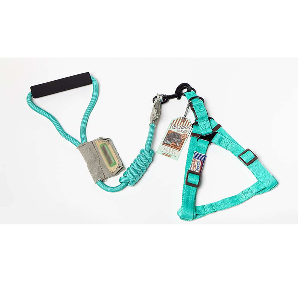 Cyan L L Cyan L L Pet Traction Rope Nylon Traction Rope Dog Chest Back Traction Rope Dog Leash Dog Traction Rope for Small and Medium Dogs Cyan L