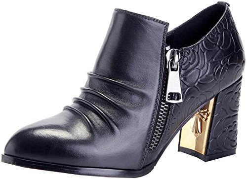 Laruise Women's Leather Pump Black rWXMI