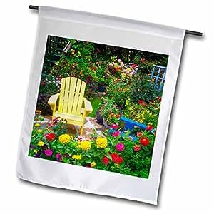 Danita Delimont - Gardens - Garden designs, Sammamish, Washington - US48 DGU0188 - Darrell Gulin - 12 x 18 inch Garden Flag (fl_95378_1)