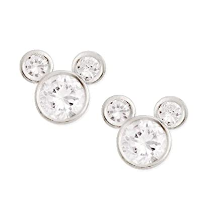 amazon com disney cz mickey mouse stud earrings sterling silver