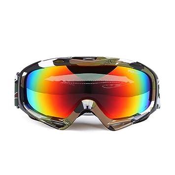 He-yanjing Gafas de esquí, Snowboard Goggle Protección UV Antiniebla Nieve Lentes antirreflejos Lente