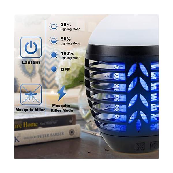 ROVLAK Zanzariera Elettrica Esterno 2-in-1 Lampada Antizanzare USB + Lanterna da Campeggio Ricaricabile Anti-zanzara… 2 spesavip
