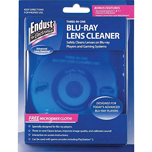 Endust for Electronics, Blu-Ray Disc Lens Cleaner, Microfiber towel included, Dust removal - Lens Laser Dvd Cleaner