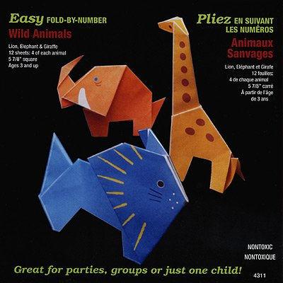 Yasutomo Fold'ems Fold by Number Origami Paper wild animals