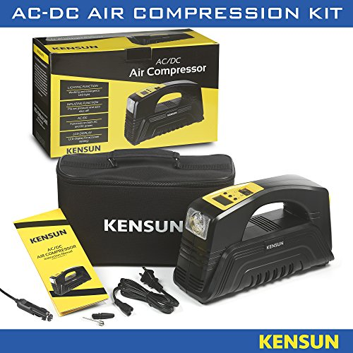 Kensun AC/DC Rapid Performance Portable Air Compressor Tire Inflator with Digital Display for Home (110V) and Car (12V) - 30 Litres/Min by Kensun (Image #8)
