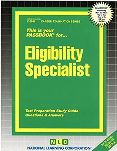 eligibility specialist passbooks career examination series jack rh amazon com Study Guide Exam Outlines Exam Study Guide Brady Michael Morton