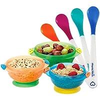 (跨境自营)(包税) Munchkin 满趣健 儿童餐具婴儿宝宝辅食工具吸盘碗+感温勺7件套(3月+)