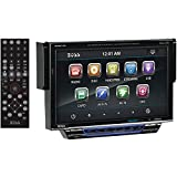 BOSS AUDIO BV8974B Single-DIN 7 inch Motorized Touchscreen DVD Player Receiver, Bluetooth, Detachable Front Panel, Wireless Remote
