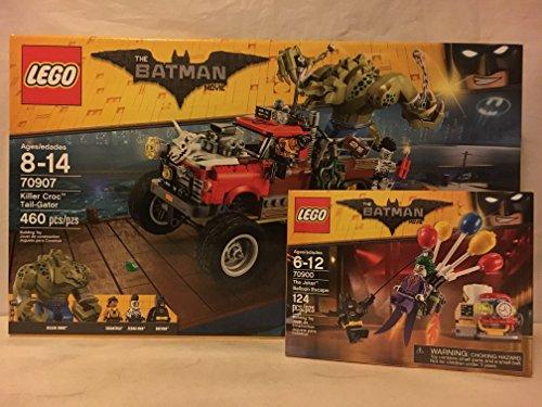 LEGO Batman Movie Killer Croc Tail-Gator & LEGO Batman Movie The Joker Balloon Escape