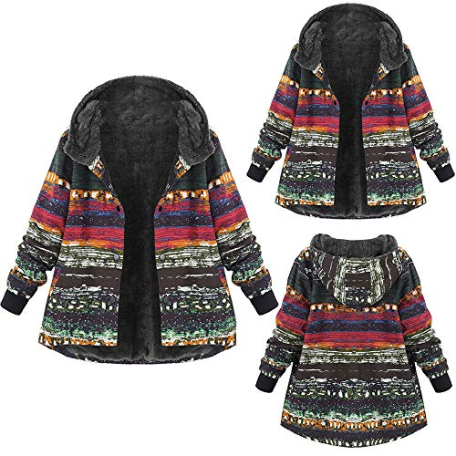 Low Jumper Pleated (FEDULK Clearance Hoodies for Women Winter Warm Jumper Vintage Plus Size Sweatshirt Pullover(Multicolor ,US Size S = Tag M))