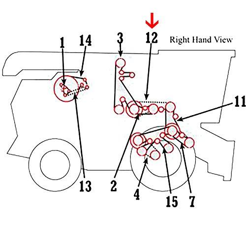 Amazon Com H154723 New Rear Rh Jackshaft Belt For John Deere 560