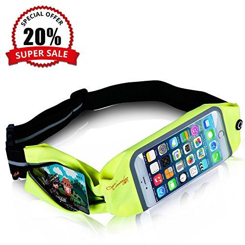 Sports Zipper Waist Belt Bag (Light Green) - 4