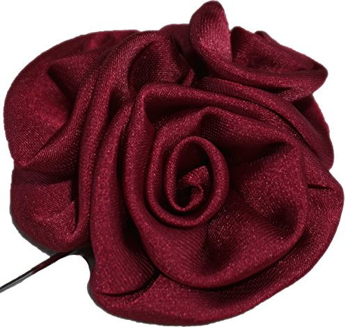 Flairs New York Gentleman's Essentials Premium Handmade Artisan Flowers Lapel Pins (Pack of 1 Pin, Bordeaux Wine Bouquet)
