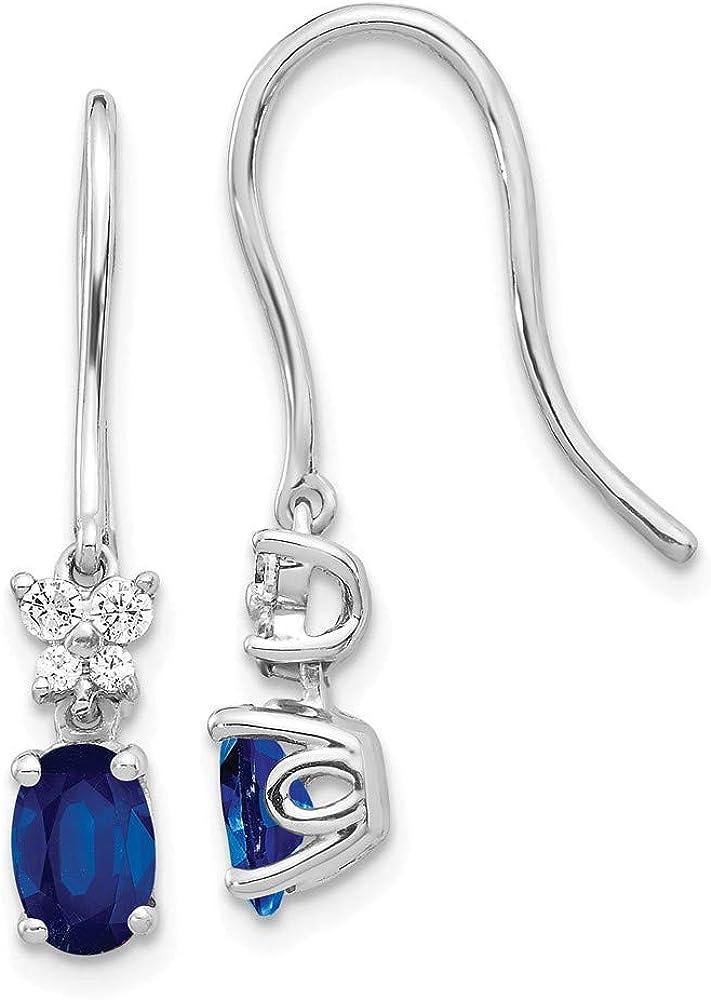 925 Sterling Silver Pendant Charm Necklace Shepherd Hook Drop Dangle Chandelier Earrings Set Fancy//Fine Jewelry Gifts For Women For Her