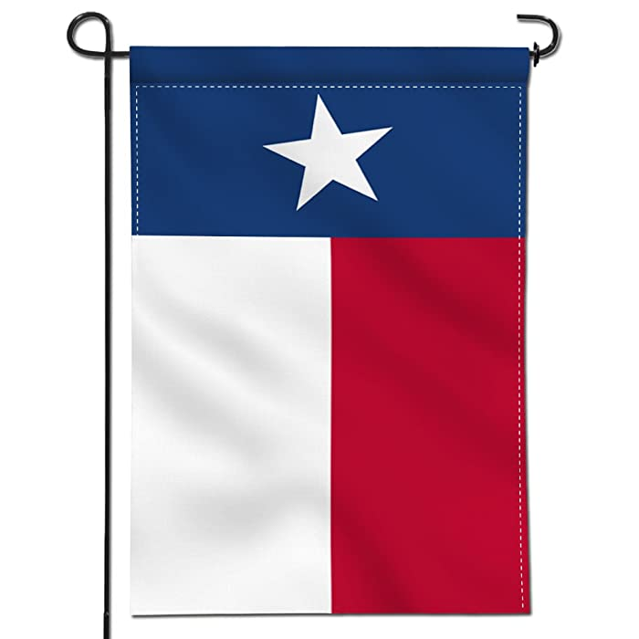 Anley [Double Sided Premium Garden Flag, Texas State Decorative Garden Flags - Weather Resistant & Double Stitched - 18 x 12.5 Inch