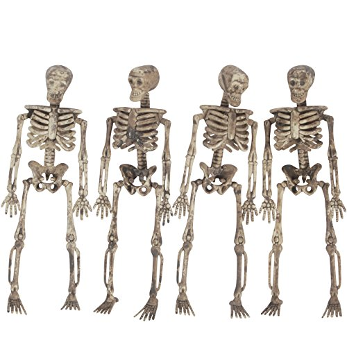 Halloween Decorations Props Decaying Skeleton Hanging 5ft Garland (Large Image)