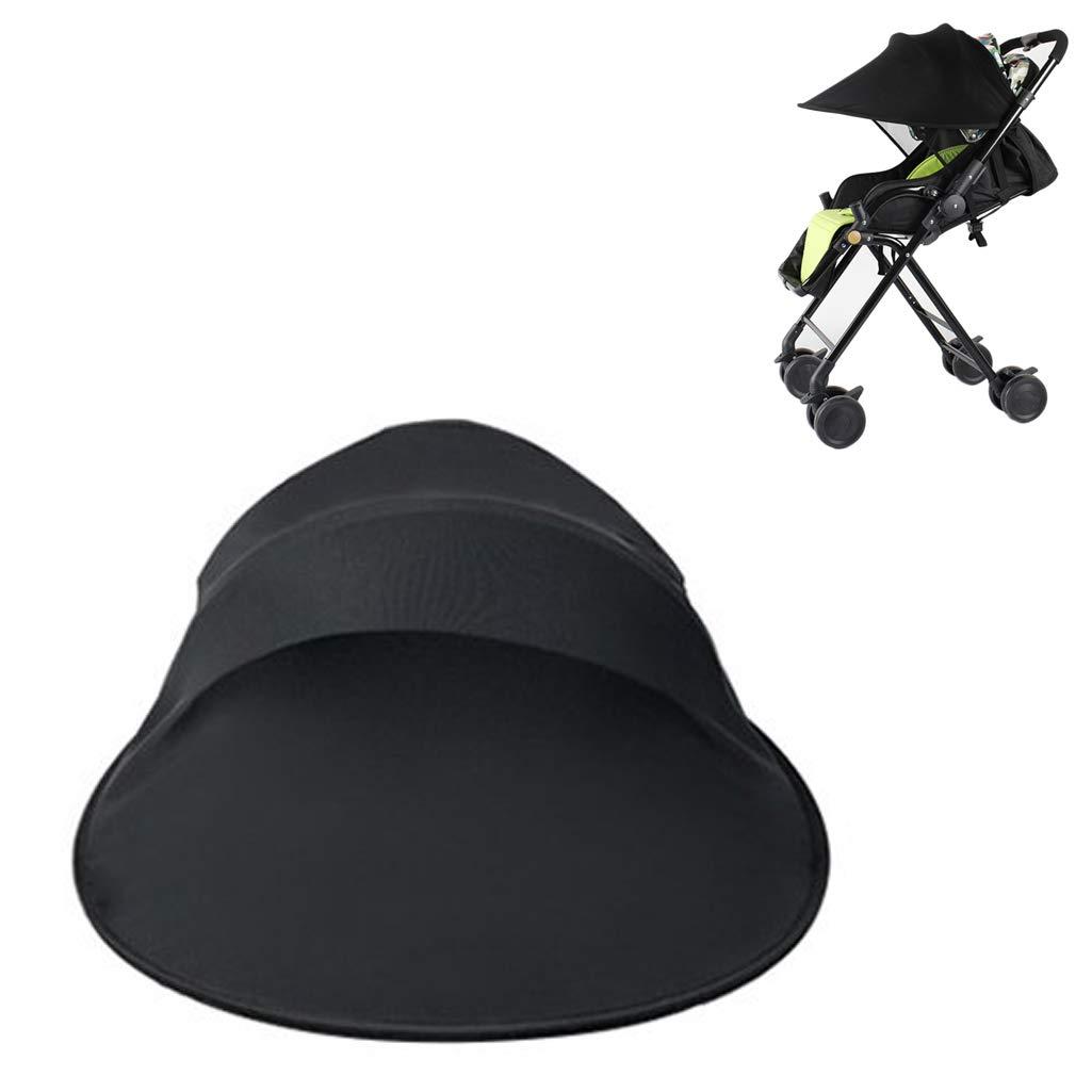 OFKPO Kinderwagen Sonnenschutz,Universal Uvschutz Strahlen Abdeckungs Markise Schwarz