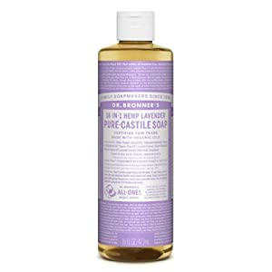 Dr Bronners Magic Soap All One Csla16/76416 16 Oz Lavender Dr. Bronner's Pure Castile Liquid Soaps