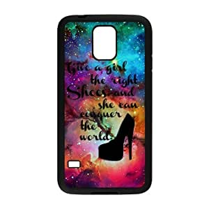 Give A Girl The Right Shoes And She Can Conquer The World Universe Rubber Phone Cover Case for Samsung Galaxy S5,SV Cell Cases