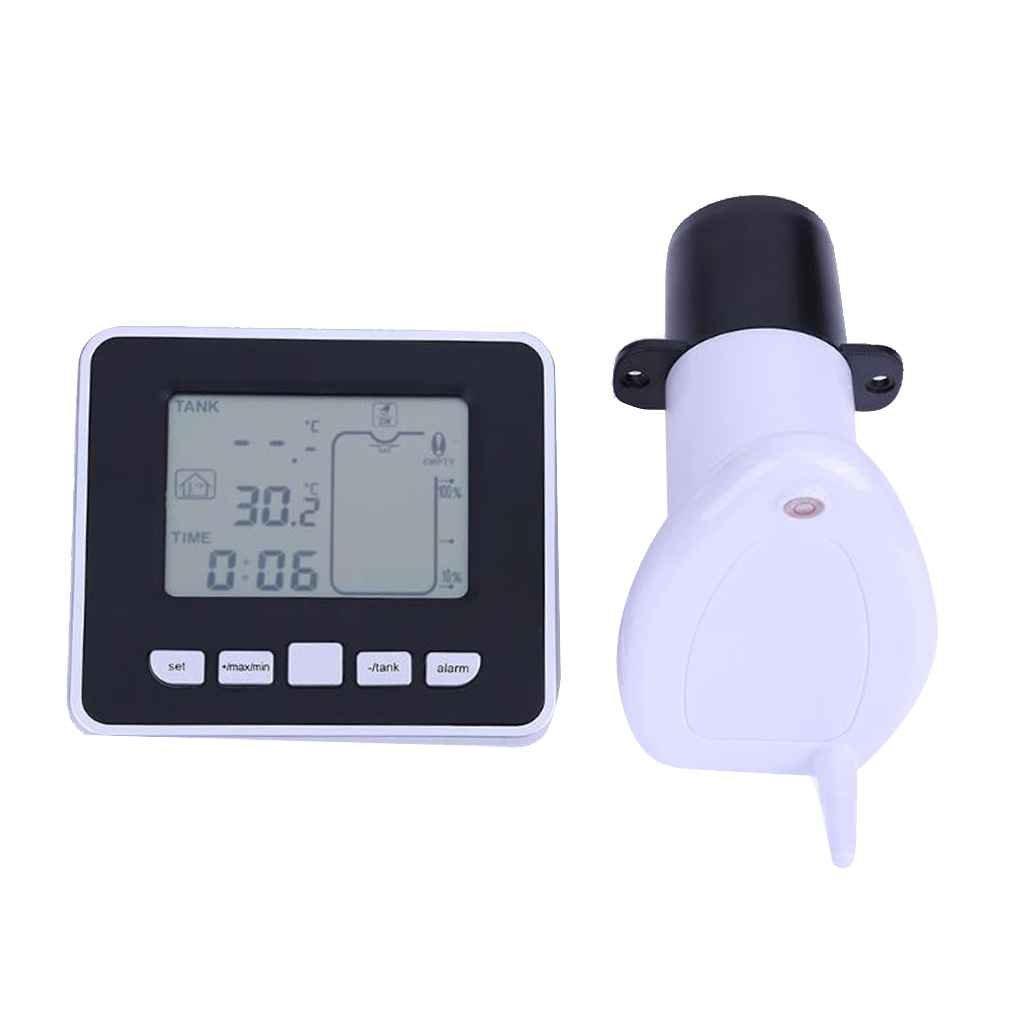 Level Meter Wireless ultrasuoni Cisterna Liquido Profondità con temperatura Thermo sensore di livello dell'acqua Gauge Regard Natral