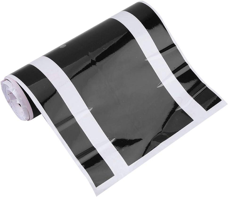 capot de capot de capot de moteur de capot de moteur de voiture de PVC d/écoration de bande de d/écalque dautocollant Noir Yctze Autocollant de corps auto-adh/ésif universel de voiture