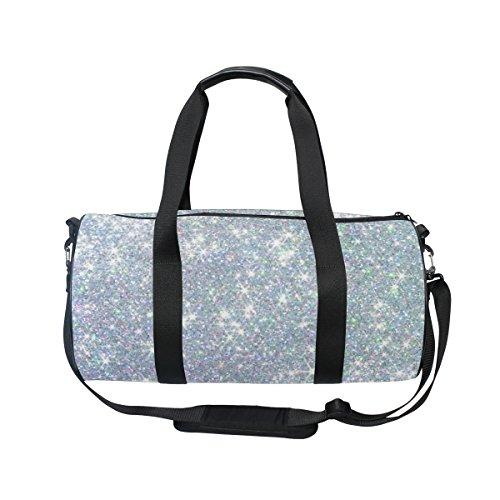 ALAZA Hipster Shiny Glitter Stars Sports Gym Duffel Bag Travel Luggage Handbag for Men Women