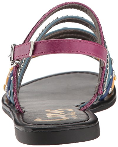Indigo Sunglow Women's by Pink Flat Mulberry Yellow BEV Sam Blue Edelman Sandal Circus Denim Deep Sv0fq0