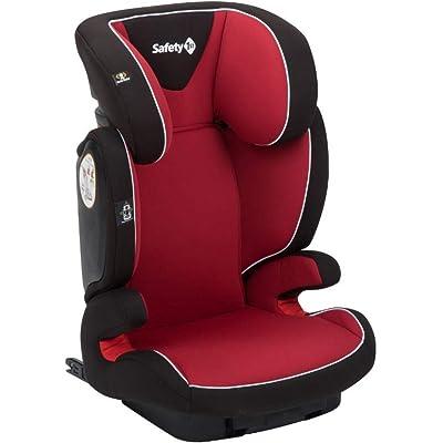 Safety 1st Road Fix Silla Coche Grupo 2 3 Isofix, crece con el niño  3- 12 años  (15-36 kg), Protección lateral segura, Ajuste fácil y seguro, color Full Red